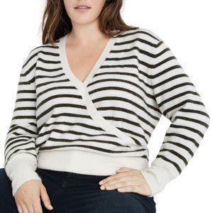 Madewell green stripe pullover BNWT sweater XXL